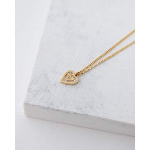 Collier ''From the heart'' plaqué or 18K