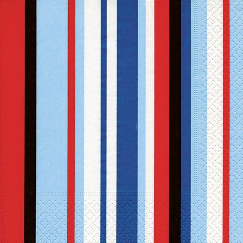 Serviettes de table format Lunch - Atlantic Stripes