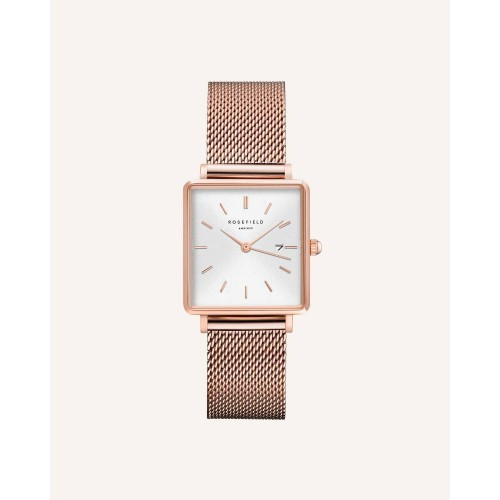 Montre The Boxy Blanc Sunray or Rose 33mm ROSEFIELD
