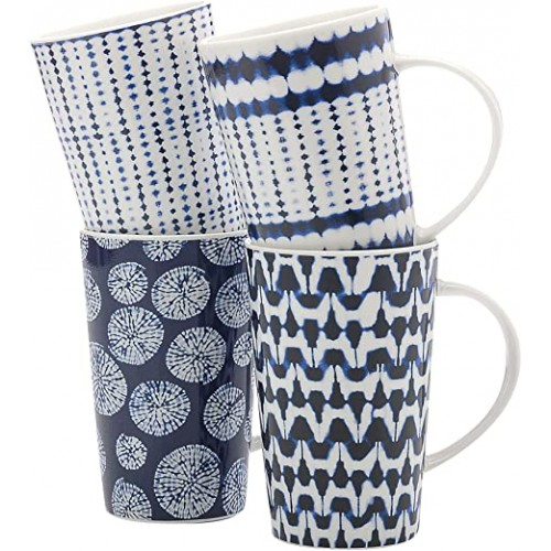 Ensemble de 4 tasses bleues